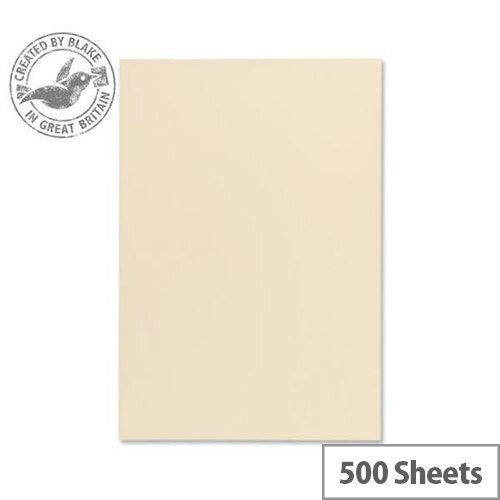 Blake A4 120gsm Wove Finish Cream Premium Paper 500 Sheets 61677