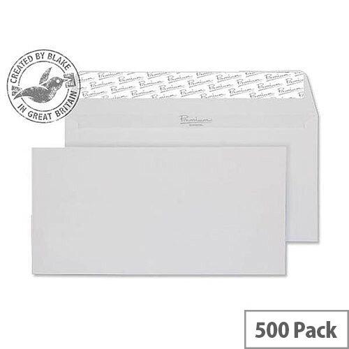 Blake DL Diamond White Premium Business Laid Wallet Envelopes 120gsm Pack of 500