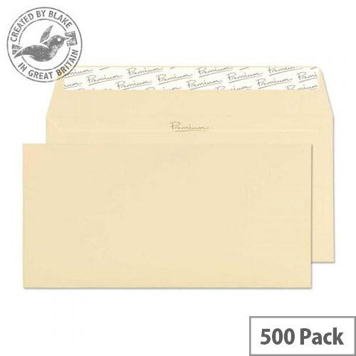 Blake Cream Premium Business DL Laid Wallet Envelopes Vellum 120gsm Pack of 500