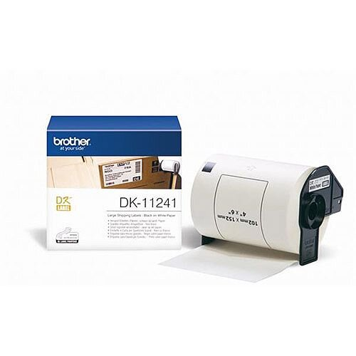 Brother P-touch DK-11241 102mm x 152mm Large Shipping Labels 200 Labels