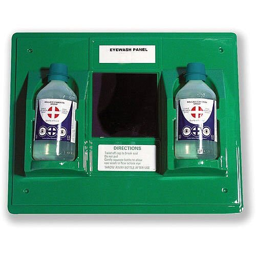 Wallace Cameron First-Aid Emergency Eyewash Station 2 x 500ml Bottles W206xD49xH205mm