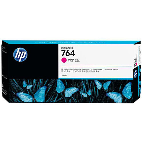 HP 764 (300ml) Magenta Ink Cartridge for Designjet T3500 Printer C1Q14A