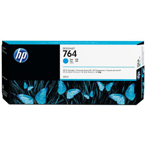 HP 764 (300ml) Cyan Ink Cartridge for Designjet T3500 Printer C1Q13A