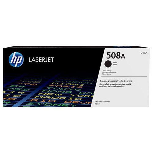 HP 508A (Yield 6,000 Pages) Black Original LaserJet Toner Cartridge for Color LaserJet Enterprise M552dn/M553dn/M553n/M553x Printers CF360A