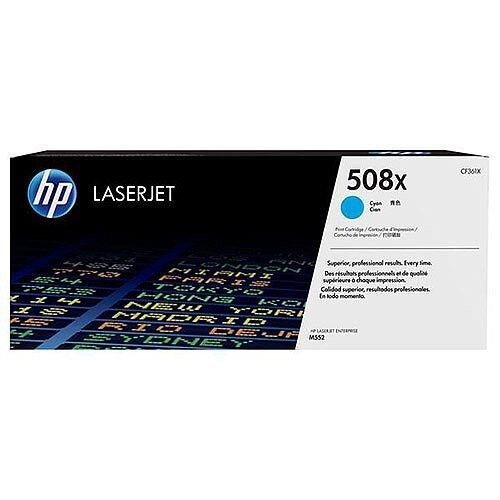 HP 508X (Yield 9,500 Pages) Cyan Original LaserJet Toner Cartridge for Color LaserJet Enterprise M552dn/M553dn/M553n/M553x Printers CF361X