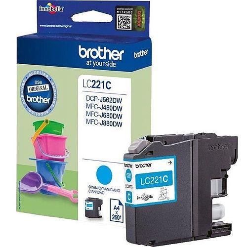 Brother LC221C Cyan Inkjet Cartridge
