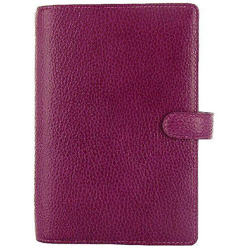 Filofax Finsbury Personal Organiser Leather Rambling Grain Personal Raspberry