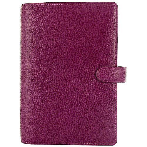 Filofax Finsbury Personal Organiser Leather Rambling Grain A5 Raspberry