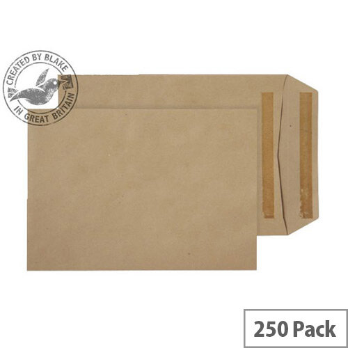 Purely Everyday Manilla 115gsm Envelopes Self Seal Pocket 254x178mm Pack of 250
