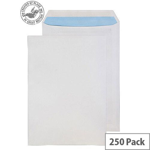 Purely Everyday White 100gsm Self Seal Pocket C4 324x229mm (Pack of 250)