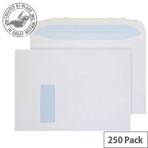 Purely Everyday Mailer Gummed Window White 100gsm C4 229x324mm (Pack of 250)