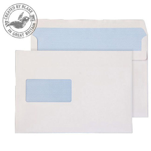 Purely Everyday White Self Seal Wallet Window 90gsm C5 162x229mm (Pack of 500)