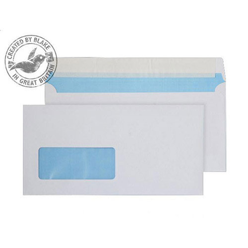 Purely Everyday White DL Wallet Low Window Envelopes P& 110gsm Pack of 500
