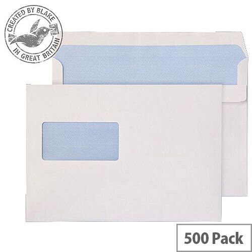 Purely Everyday White 90gsm Self Seal Wallet Window C5 162x229mm (Pack 500)