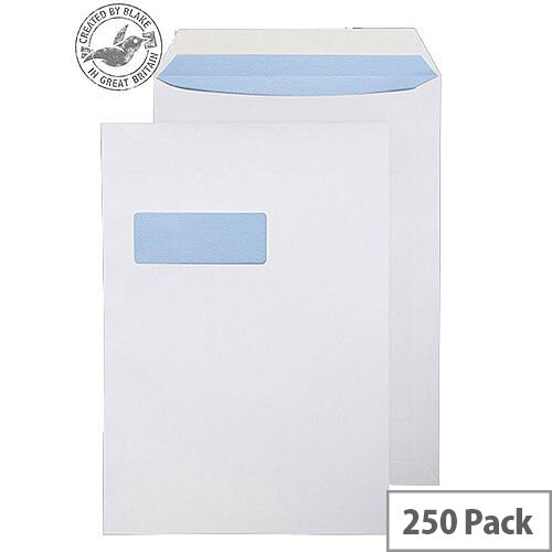 Purely Everyday Pocket P& High Window White 100gsm C4 324x229mm (Pack of 250)