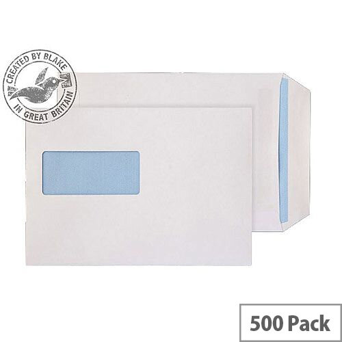 Purely Everyday White 100gsm Self Seal Pocket Window C5 229x162mm (Pack of 500)