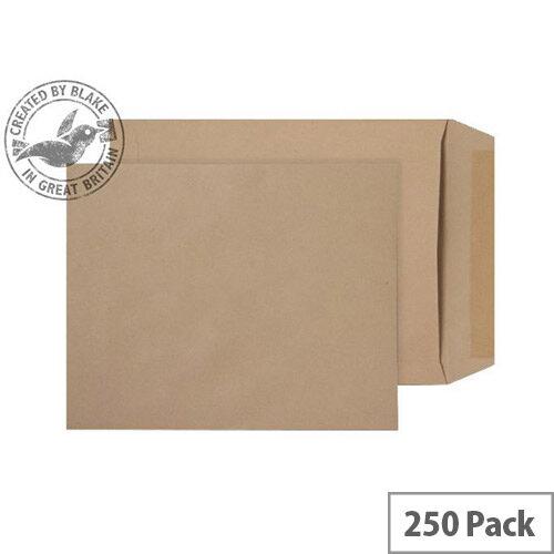 Purely Everyday Manilla 90gsm Envelopes Gummed Pocket 305x250mm Pack of 250