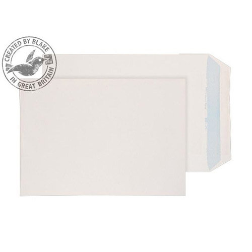 Purely Environmental Pocket Self Seal White 100gsm C4 324x229 (Pack of 250)