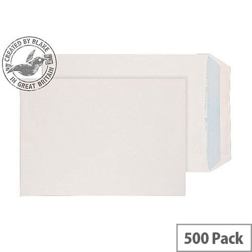 Purely Environmental Pocket Self Seal White 90gsm C5 229x162mm (Pack of 500)