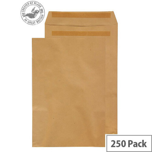 Purely Everyday Manilla 90gsm Envelopes Self Seal Pocket 381x254mm Pack of 250