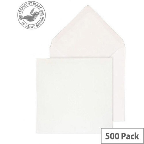 Purely Everyday Square Banker Invit Gummed White 100gsm 130x130 (Pack of 500)