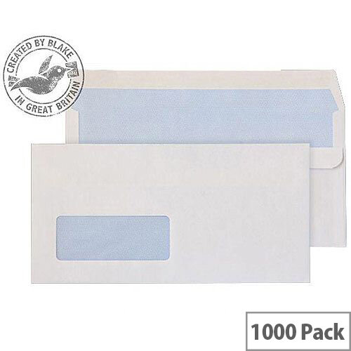 Purely Everyday DL White Window Self Seal Envelopes 80gsm Pack of 1000