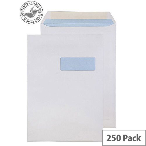 Purely Everyday Pocket Gum Right-Hand Window White 100gsm C4  (Pack of 250)