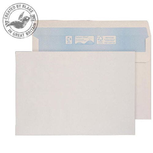 Purely Environmental Wallet Self Seal White 90gsm C5 162x229mm (Pack of 500)