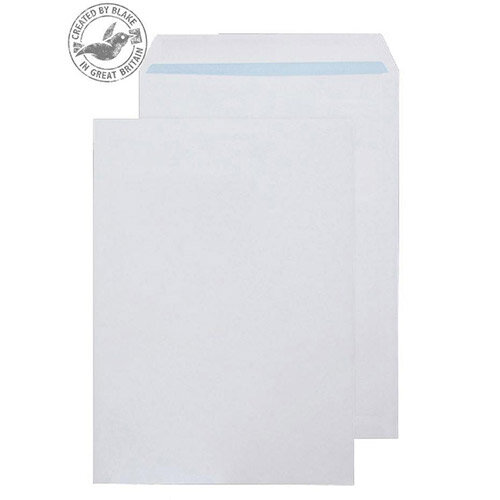 Purely Environmental Pocket Self Seal White 100gsm C4 324x229mm (Pack of 250)