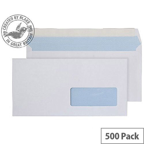 Purely Everyday White DL Wallet Right-Hand Window Envelopes 100gsm Pack of 500