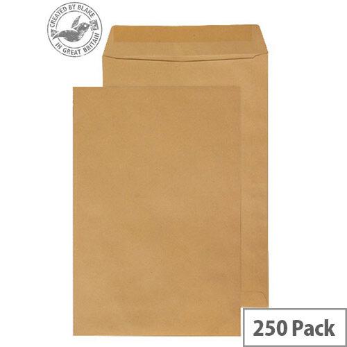 Purely Everyday Manilla Envelopes 115gsm Gummed Pocket 381x254mm Pack of 250