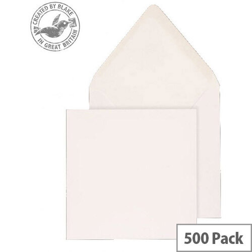 Purely Everyday Square Banker Invit Gummed White 100gsm 140x140 (Pack of 500)