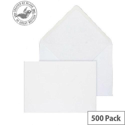 Purely Everyday Banker Invitation Envelopes Gummed White 100gsm 159x235mm Pack of 500