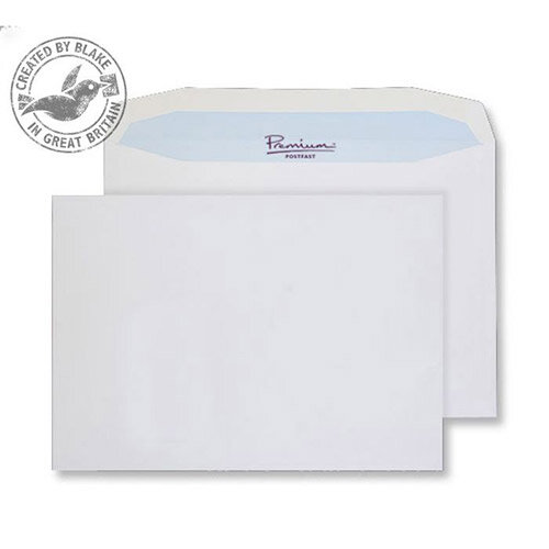 Blake Premium Postfast Mailing Wallet Gum White C4 229x324 100gsm (Pack of 250)