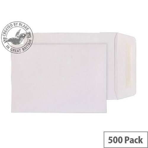 Purely Everyday Pocket Envelopes Gummed White 90gsm 190x127mm Pack of 500