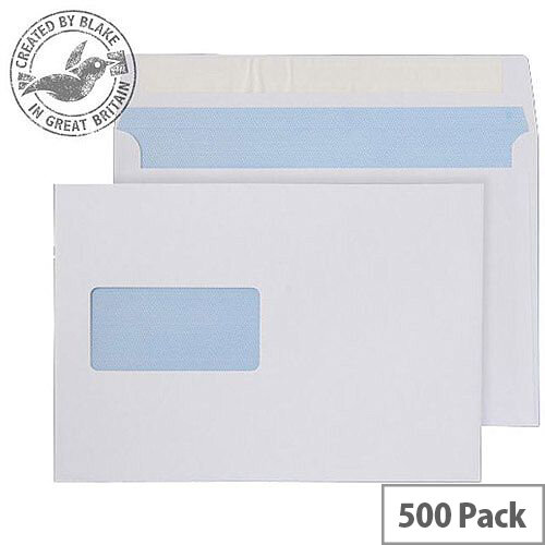 Purely Everyday Wallet P& Window White 100gsm C5 162x229mm (Pack 500)