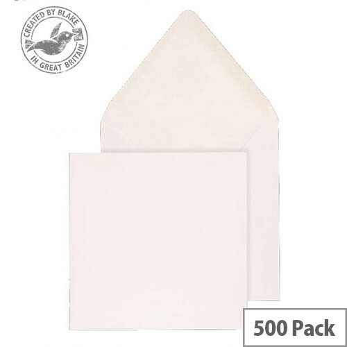 Purely Everyday Square Banker Invit Gummed White 100gsm 159x159 (Pack of 500)