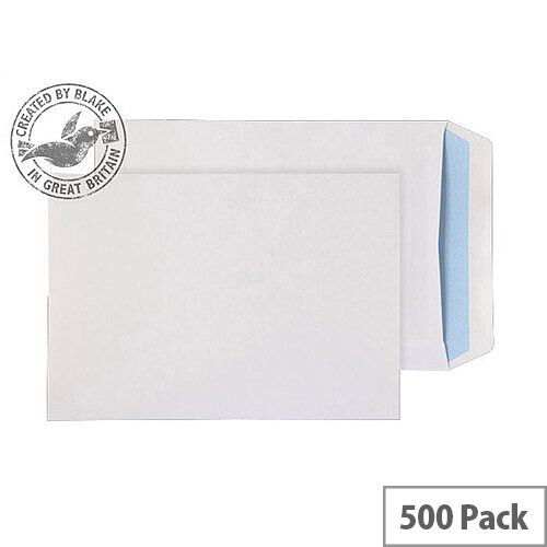 Purely Everyday Pocket Self Seal White 100gsm C5+ 240x165mm (Pack 500)