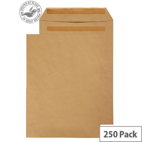 Purely Everyday Manilla Self Seal 120gsm Envelopes Pocket B4 352x250mm Pack of 250