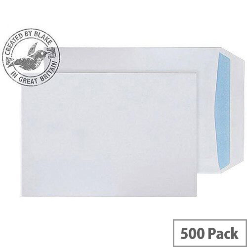 Purely Environmental Pocket Self Seal White 100gsm C5 229x162mm (Pack of 500)