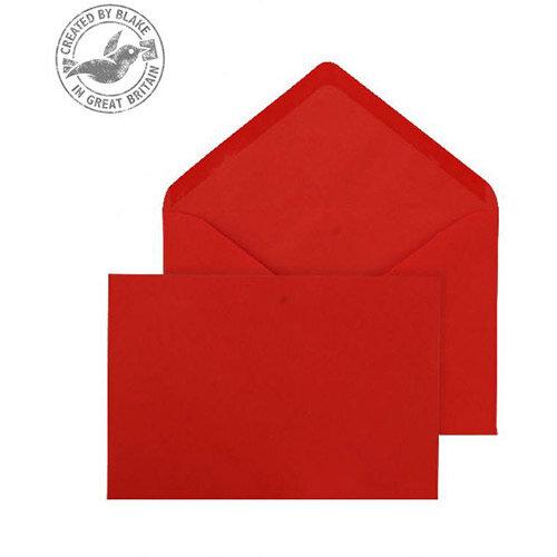 Purely Everyday Banker Invitation Envelopes Gummed Red 100gsm 133x185mm Pack of 500