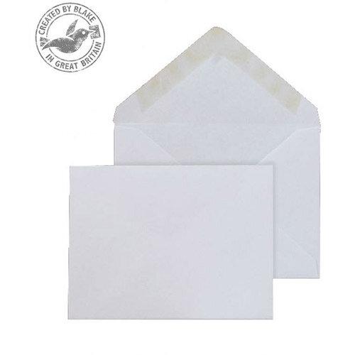 Purely Everyday Banker Invitation Envelopes Gummed White 90gsm 70x100mm Pack of 1000