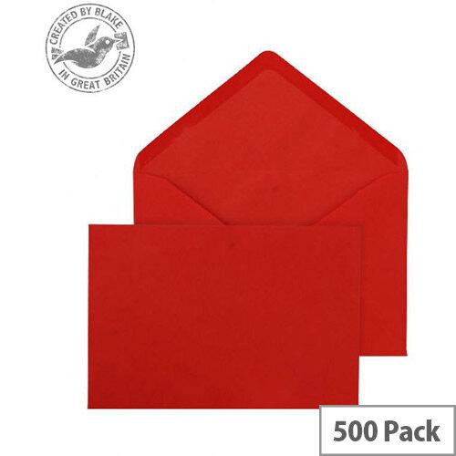 Blake Purely Everyday  133x197mm  100g/m2 Gummed Banker Envelopes  Red  Pack of 500
