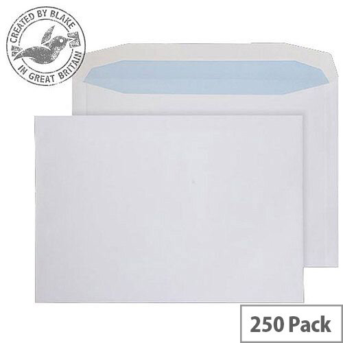 Purely Everyday White 100gsm Gummed Mailing Wallet C4+ 240x330mm (Pack of 250)
