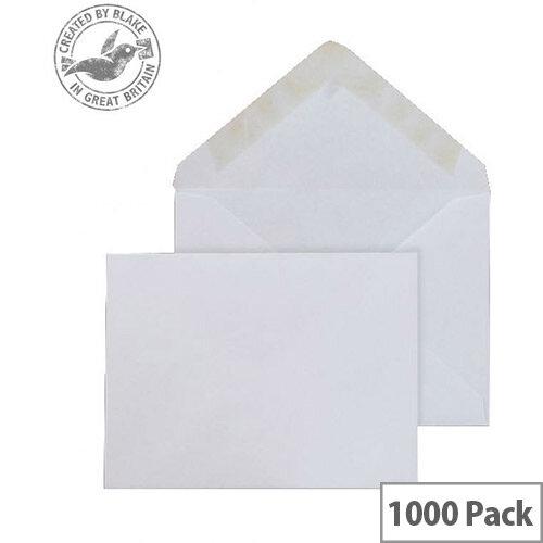 Purely Everyday Banker Invitation Envelopes Gummed White 90gsm 108x159mm Pack of 1000