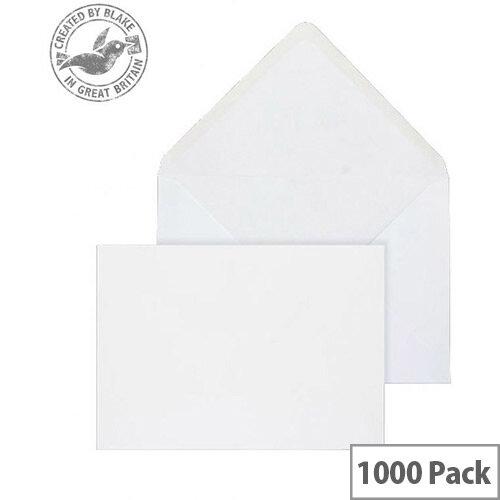 Purely Everyday Banker Invitation envelopes Gummed White 90gsm 121x171mm Pack of 1000
