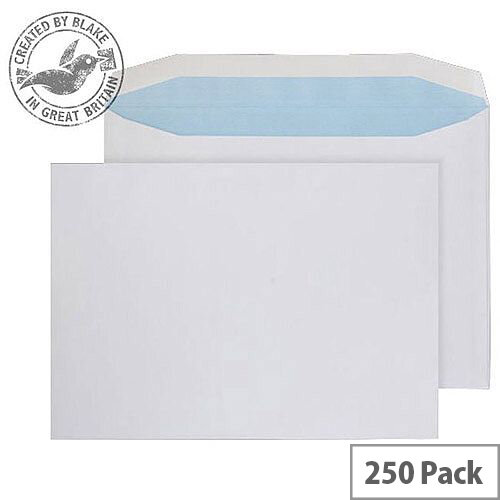 Purely Everyday Mailer Gummed Low Window White 100gsm C4+ 240x330 (Pack of 250)