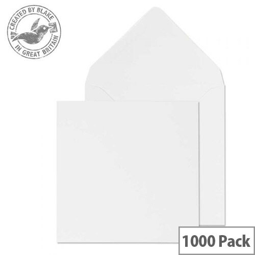 Purely Everyday Square Banker Invit Gummed White 90gsm 111x111 (Pack of 1000)