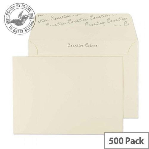 Creative Colour Clotted Wallet Cream C6 Envelopes (Pack 500)