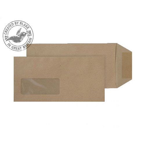 Purely Everyday Manilla DL Pocket Gummed Window Envelopes 80gsm Pack of 1000